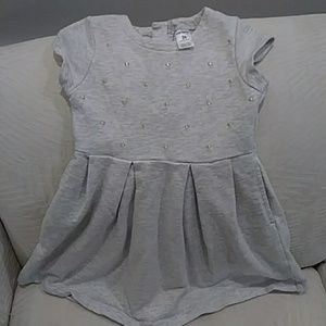 Carters grey sweater dress with gold dots